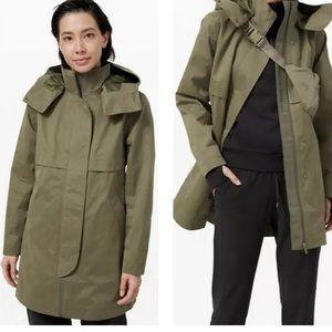 Lululemon New Rain Shaker Trench Jacket Size 10